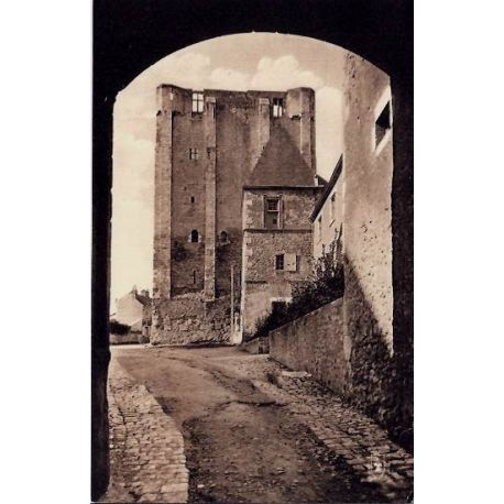 Carte postale 45 - Beaugency - La tour de Cesar - Voyage - Dos divise