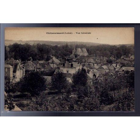 Carte postale 45 - Chateaurenard - Vue generale - Voyage - Dos divise...
