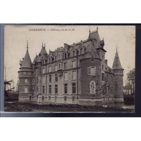Carte postale 45 - Combreux - Chateau - vu du Sud-Est - Voyage - Dos non divise...