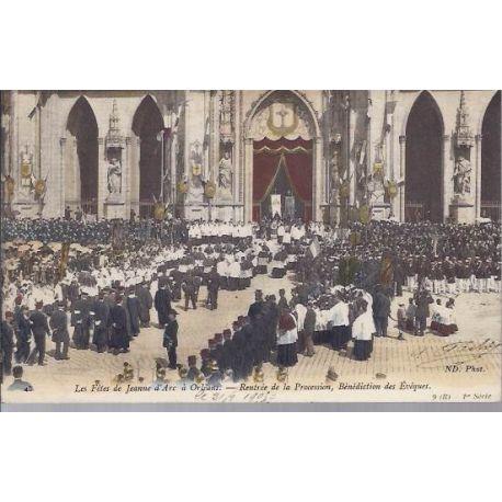 Carte postale 45 - Fetes Jeanne d'Arc - Rentree de la procession