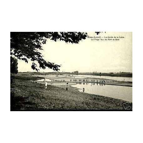 Carte postale 45 - GIEN - BORDS DE LA LOIRE - LA PLAGE