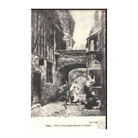 Carte postale 45 - GIEN - PUITS A 2 ETAGES IMPASSE DU BILLARD