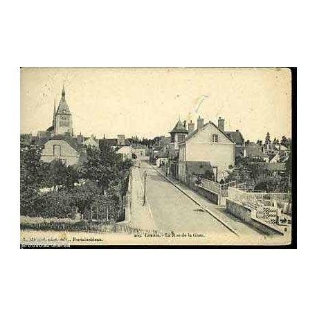 Carte postale 45 - Lorris - La rue de la gare