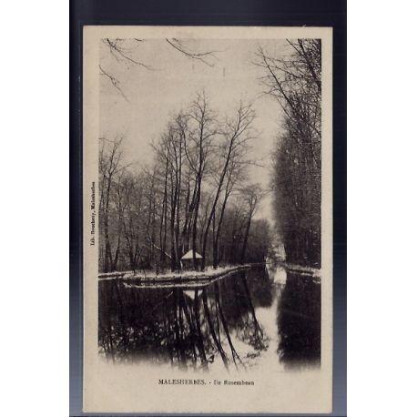 Carte postale 45 - Malesherbes - Ile Rosembeau - Non voyage - Dos non divise...