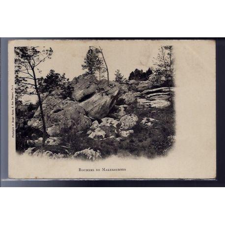 Carte postale 45 - Malesherbes - Les rochers - Non voyage - Dos non divise...