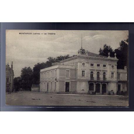 Carte postale 45 - Montargis - Le theatre - Voyage - Dos divise...