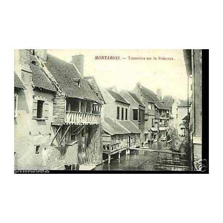 Carte postale 45 - Montargis - Tanneries sur le Puiseaux