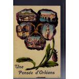 """Carte postale 45 - Orleans - Carte une pensee d'Orleans avec differentes vues de la vil..."""""""