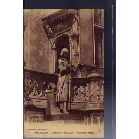 Carte postale 45 - Orleans - Jeanne d'Arc par la princesse Marie - Voyage - Dos divise...