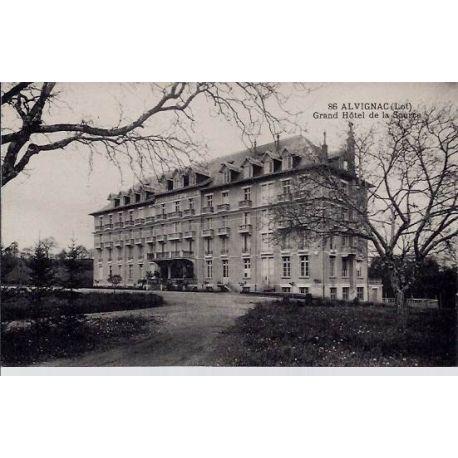 Carte postale 46 - Alvignac - Grand Hotel de la source - Non voyage - Dos divise