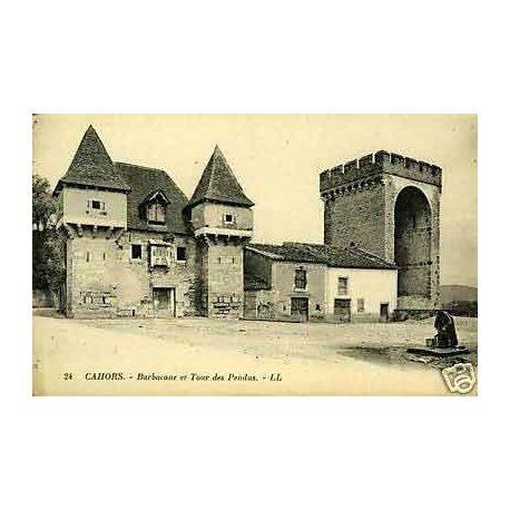Carte postale 46 - Cahors - Barbacane et tour des pendus