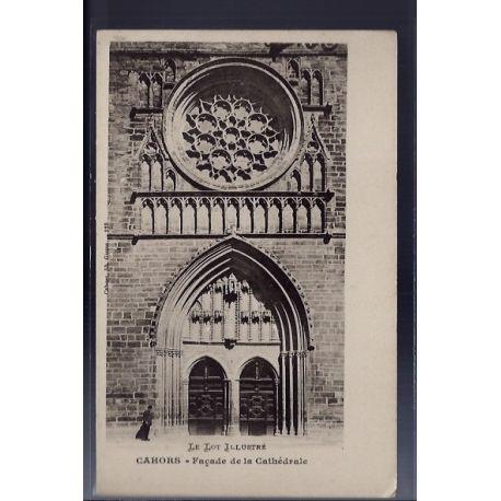 Carte postale 46 - Cahors - Facade de la cathedrale - Non voyage - Dos non divise...