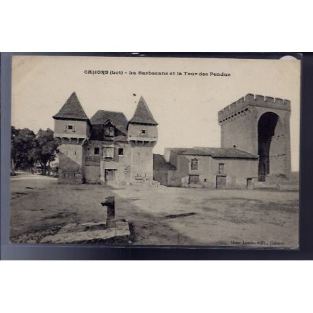 Carte postale 46 - Cahors - La Barbacane et la tour des pendus - Non voyage - Dos divise...