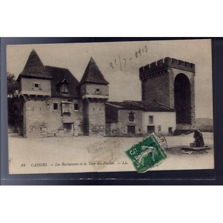 Carte postale 46 - Cahors - Les Barbacanes et la tour des pendus - Voyage - Dos divise...