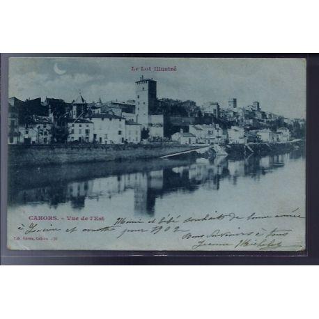 Carte postale 46 - Cahors - Vue de l'Est - Voyage - Dos non divise...