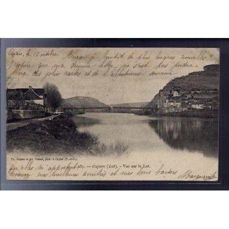 Carte postale 46 - Cajarc - Vue sur le Lot - Voyage - Dos non divise...