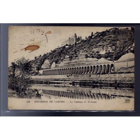 Carte postale 46 - Environs de Cahors - le chateau de Mercues - Voyage - Dos divise...