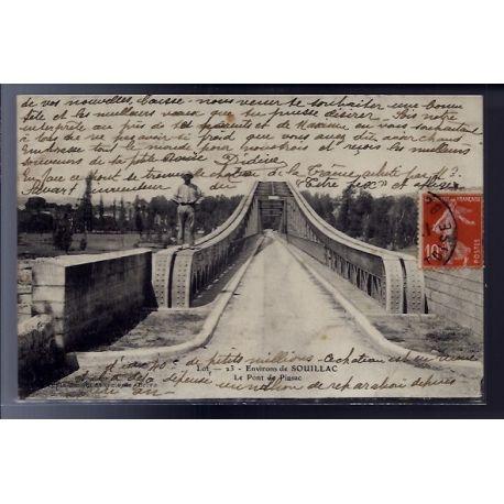 Carte postale 46 - Environs de Souillac - le pont de Pinsac - Voyage - Dos divise...