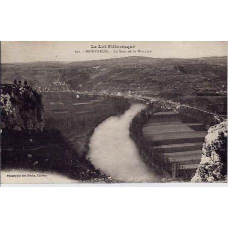 Carte postale 46 - Montbrun - Le lot pittoresque - Le saut de la mounine - Voyage - Dos divi