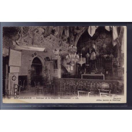 Carte postale 46 - Rocamadour - interieur de la chapelle Miraculeuse - Non voyage - Dos d...
