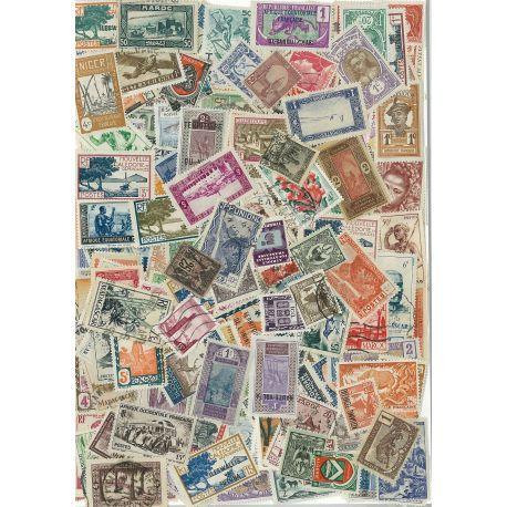 Collection de timbres Communaute Francaise oblitérés