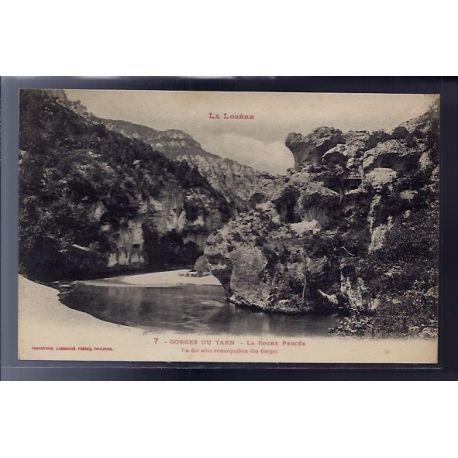 48 - Gorges du Tarn - La Roche Percee - un des sites remarquables des Gorge...