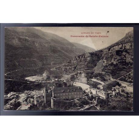 48 - Gorges du Tarn - Panorama de Sainte-Enimie - Non voyage - Dos divise...