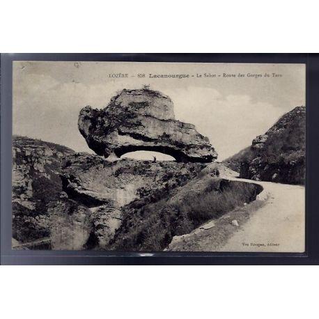 48 - Lacanourgue - le Sabot - Route des Gorges du Tarn - Voyage - Dos divis...
