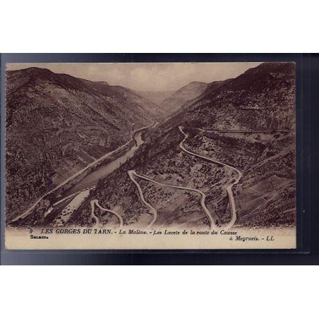 48 - Les Gorges du Tarn - La Malene - les lacets de la route du Causse - No...
