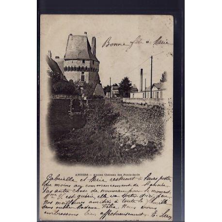 Carte postale 49 - Angers - Ancien chateau des ponts-de-ce - Voyage - Dos non divise...