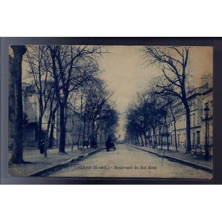 Carte postale 49 - Angers - Boulevard du Roi Rene - Voyage - Dos divise...