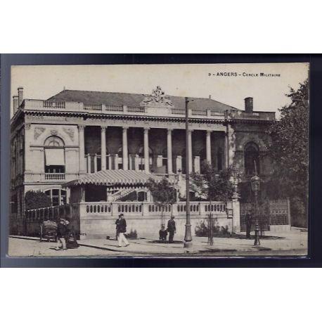 Carte postale 49 - Angers - Cercle Militaire - Non voyage - Dos divise...