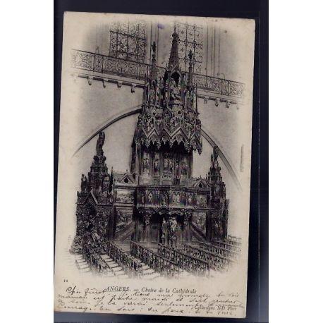 Carte postale 49 - Angers - Chaire de la cathedrale - Voyage - Dos non divise...