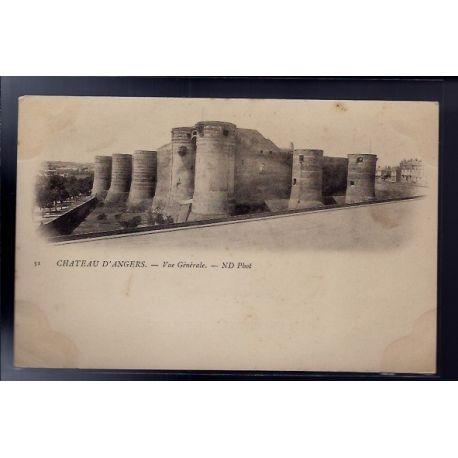 Carte postale 49 - Angers - Chateau d' Angers - Vue generale - Non voyage - Dos non divis...