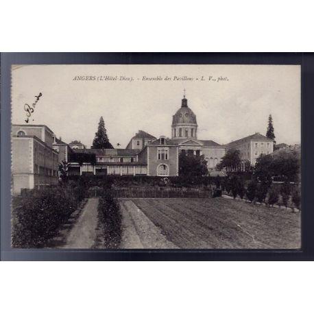 Carte postale 49 - Angers - Ensemble des pavillons - Voyage - Dos divise...