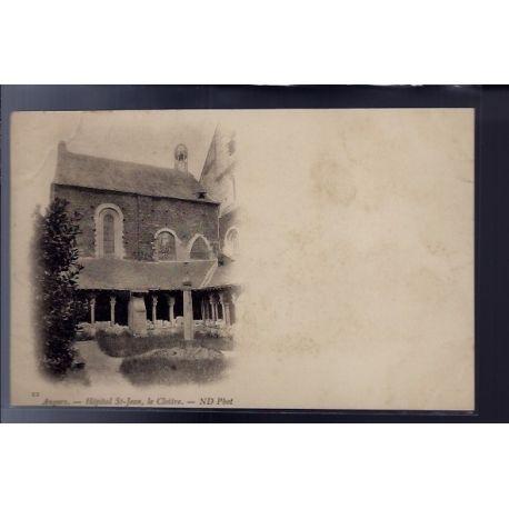 Carte postale 49 - Angers - Hopital St-Jean - le Cloitre - Non voyage - Dos non divise...