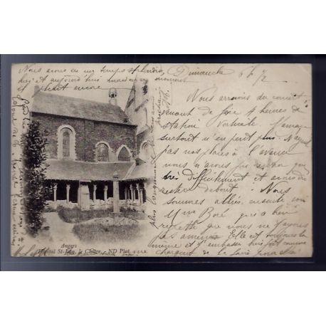 Carte postale 49 - Angers - Hopital st-Jean - le Cloitre - Voyage - Dos non divise...