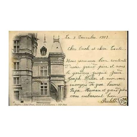 Carte postale 49 - Angers - Hotel Pince