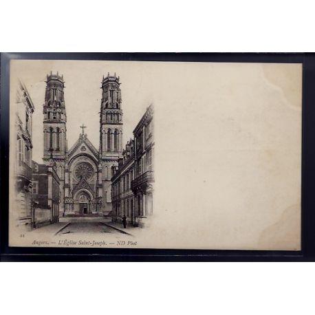 Carte postale 49 - Angers - L' eglise Saint-Joseph - Non voyage - Dos non divise...