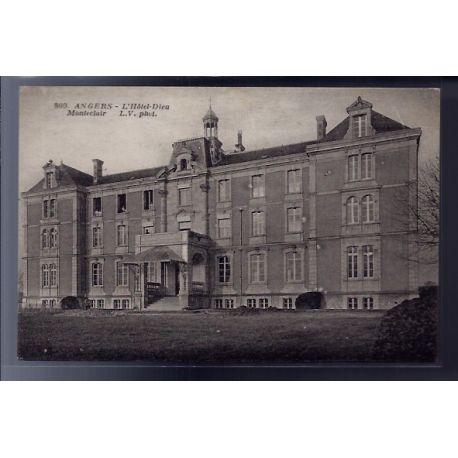 Carte postale 49 - Angers - L' Hotel-Dieu Monteclair - Non voyage - Dos divise...