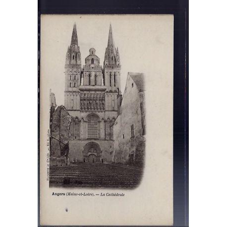 Carte postale 49 - Angers - La cathedrale - Non voyage - Dos non divise...