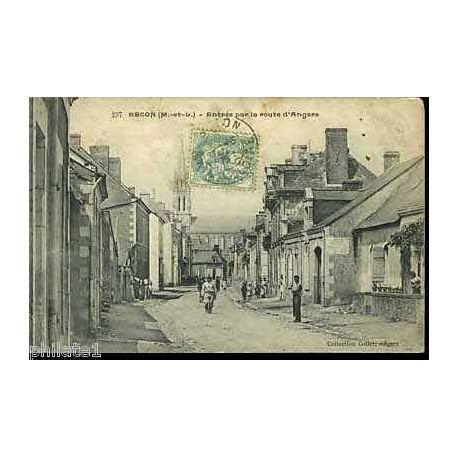 Carte postale 49 - Becon - Entree par la route d'Angers