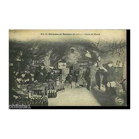 Carte postale 49 - Environs de Saumur - Les caves de Munet