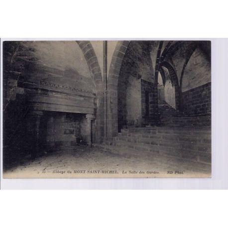 Carte postale 50 - Abbaye du Mont-Saint-Michel - La salle des Gardes - Non voyage - Dos div