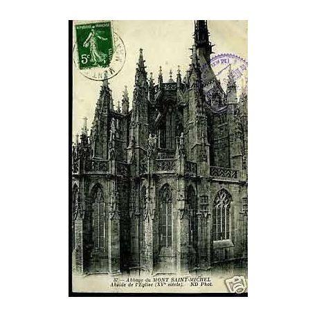 Carte postale 50 - Abbaye du Mt-St-Michel - Abside de l'Eglise