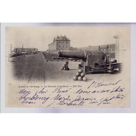 50 - Arsenal de Cherbourg - La Direction d' Artillerie - Voyage - Dos non div