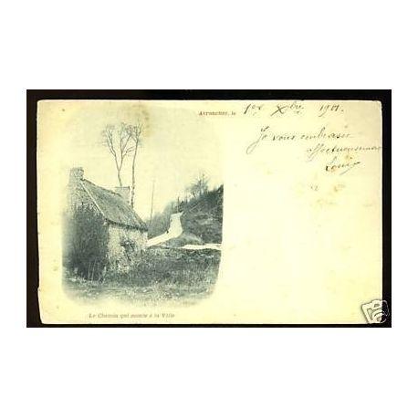 Carte postale 50 - Avranches - Le chemin qui monte a la ville