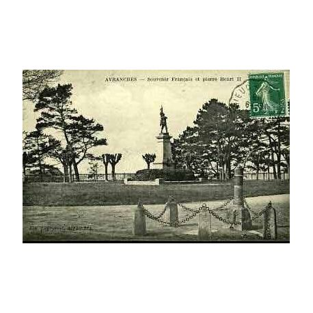 Carte postale 50 - AVRANCHES - SOUVENIR FRANCAIS ET PIERRE HENRI II