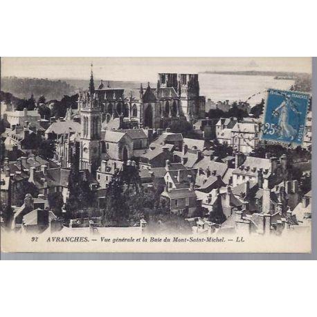 Carte postale 50 - Avranches - Vue generale,Baie du Mt St Michel