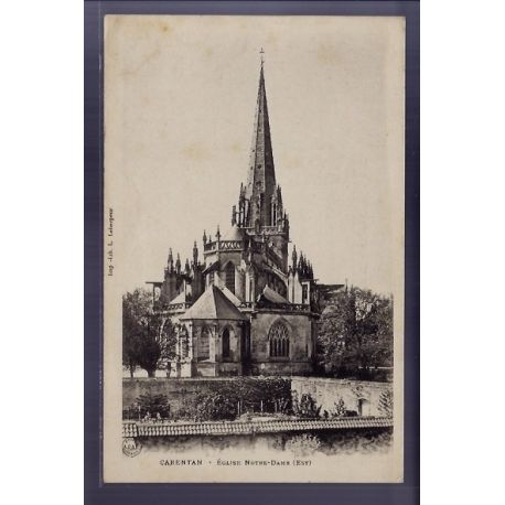 Carte postale 50 - Carentan - Eglise Notre-Dame - Non voyage - Dos non divise